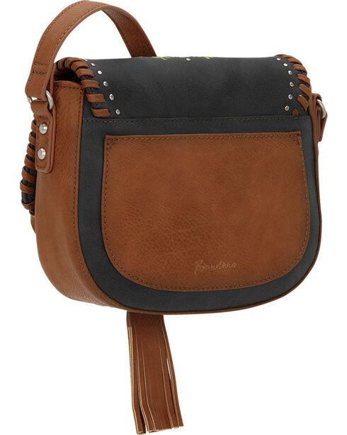 Bandana by American West Women's Maya Flap Crossbody Bag, Charcoal Grey, hi-res