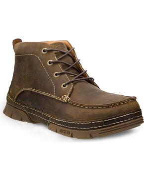 Justin Men's Tobar Work Shoes, Brown, hi-res