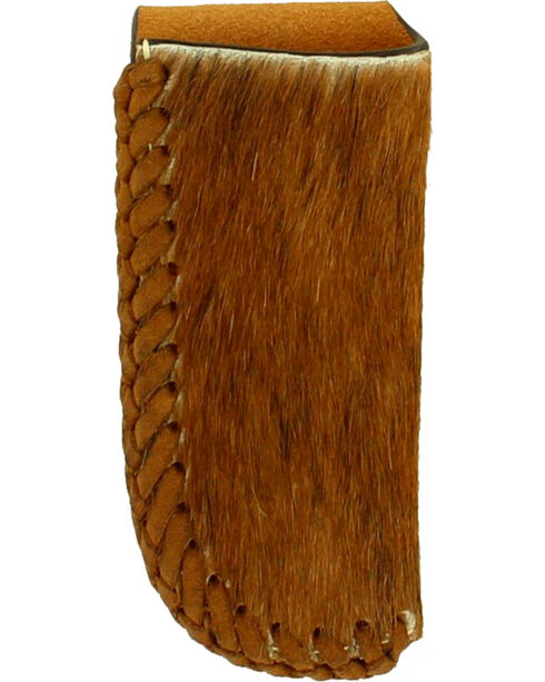 Nocona Hair and Leather Lacing Knife Sheath , Tan, hi-res