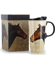 Evergreen Horse on the Run Ceramic Mug, , hi-res