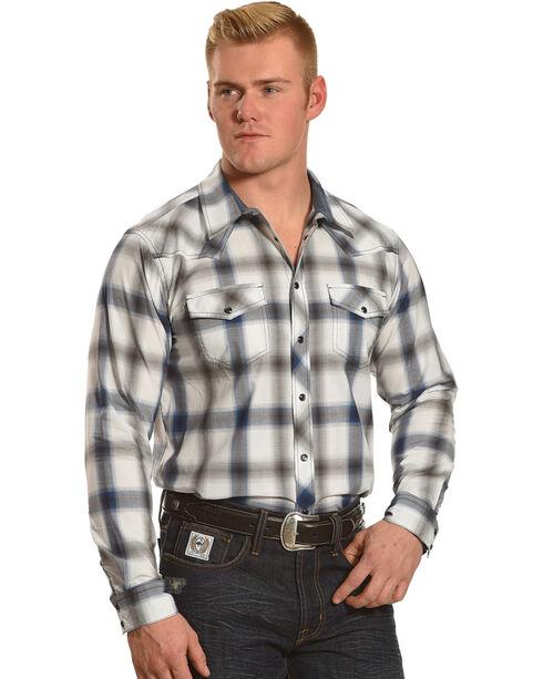Cody James Men's Big Bend Plaid Long Sleeve Shirt, Turquoise, hi-res