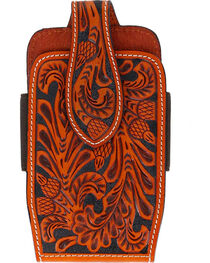 Cody James® Men's Embossed Leather Cell Phone Holder, , hi-res