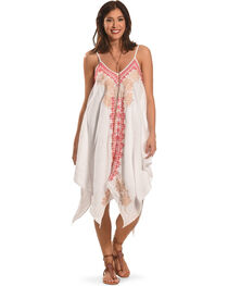 Johnny Was Women's White Kai Hankerchief Dress, , hi-res