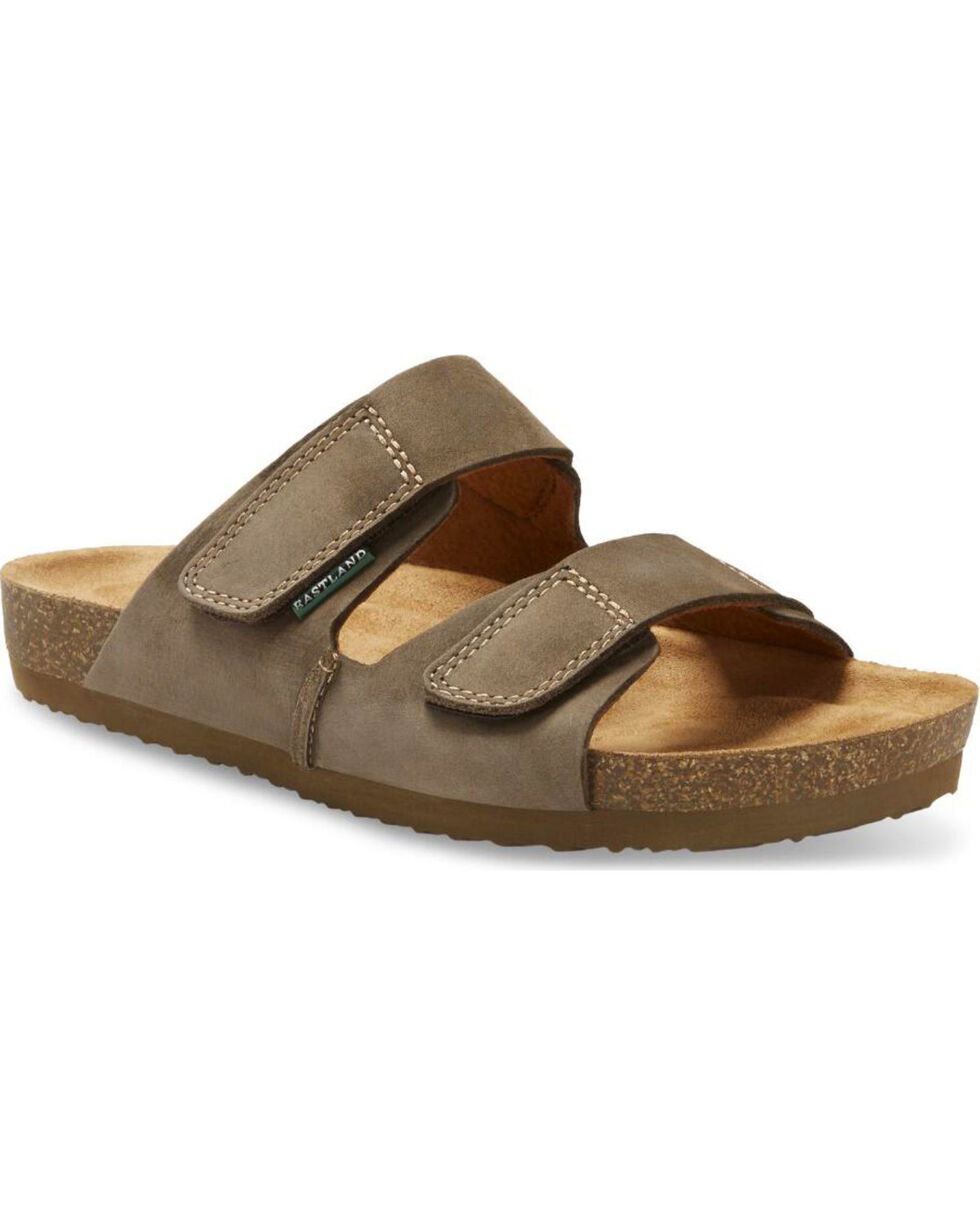 Eastland Men's Caleb Slide Sandals, Olive, hi-res