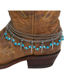 Cowgirl Confetti by AndWest Teardrop Chain & Turquoise Boot Bracelet, , hi-res