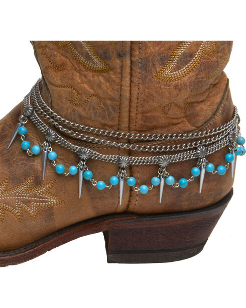 Cowgirl Confetti by AndWest Teardrop Chain & Turquoise Boot Bracelet, Multi, hi-res