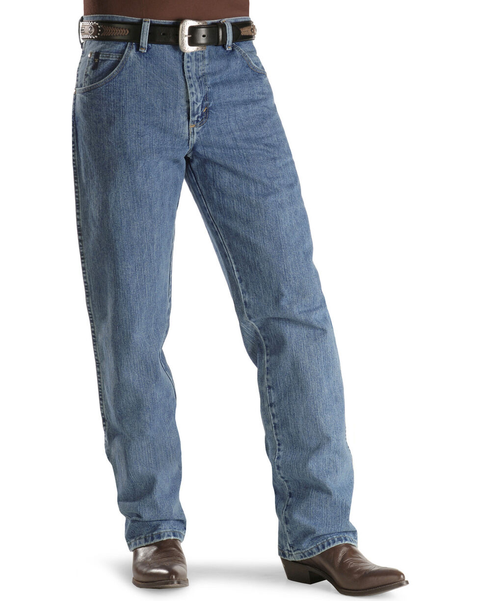 Wrangler Men's No.23 Relaxed Fit Jeans, Antique Blue, hi-res