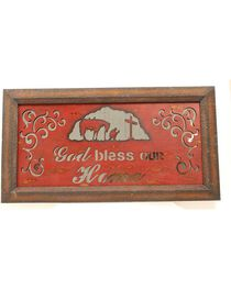 M&F God Bless Our Home Mirrored Plaque Wall Decor, , hi-res