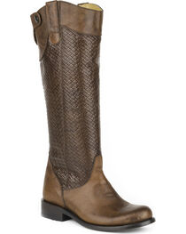 Stetson Women's Chelsea Basket Weave Western Boots - Round Toe, , hi-res