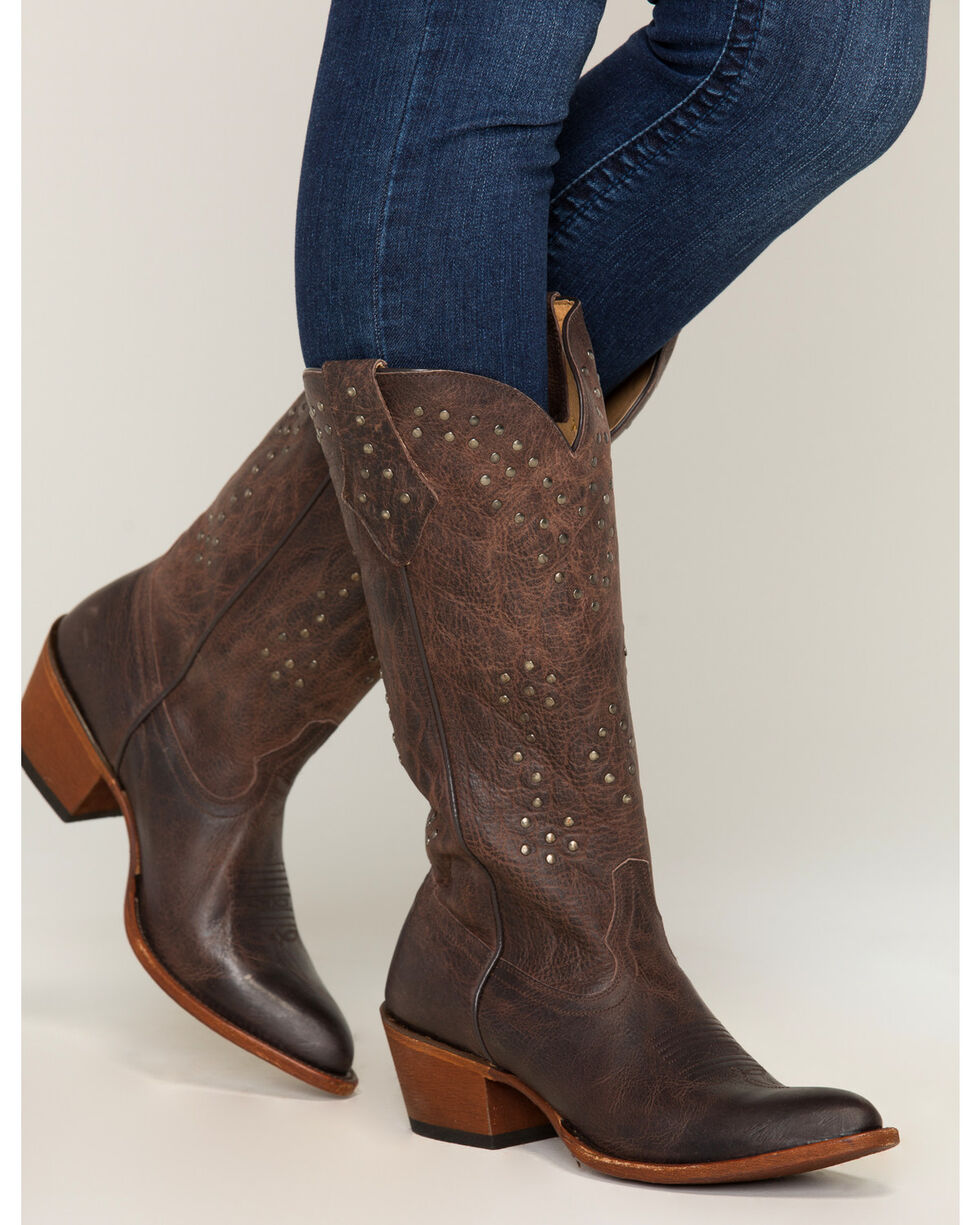 Shyanne® Women's Tall Studded Almond Toe Western Boots, , hi-res