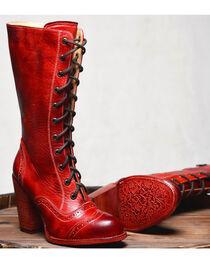 Oak Tree Farm Ariana Red Boots - Round Toe, , hi-res
