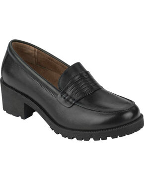 Eastland Women's Black Newbury Penny Loafers, Black, hi-res