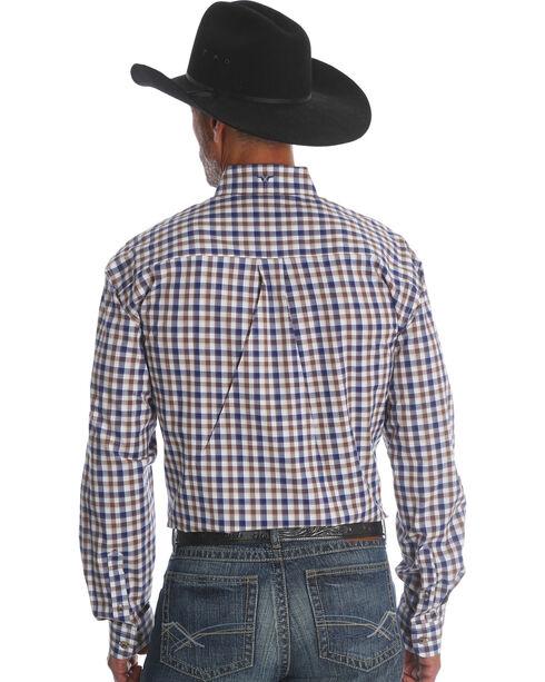 Wrangler Men's Rustic Blue 20X Advanced Comfort Competition Shirt - Tall, Blue, hi-res