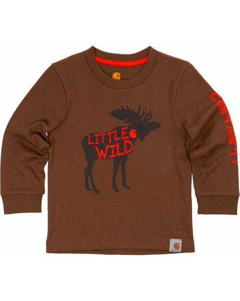 Carhartt Toddler Boys' Brown Little Wild Tee , Brown, hi-res