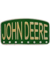 Montana Silversmiths John Deere Painted License Brass Attitude Belt Buckle, Gold, hi-res