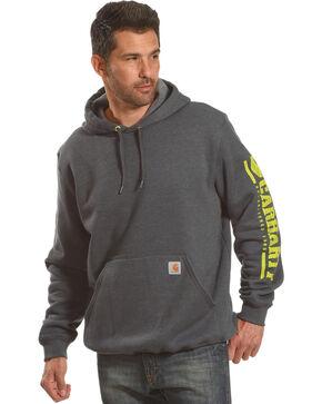 Carhartt Men's Drawstring Logo Hoodie, Charcoal, hi-res