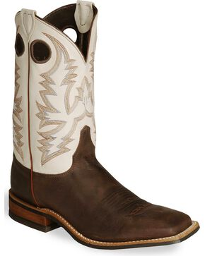 Justin Men's Bent Rail Boots, Brown, hi-res