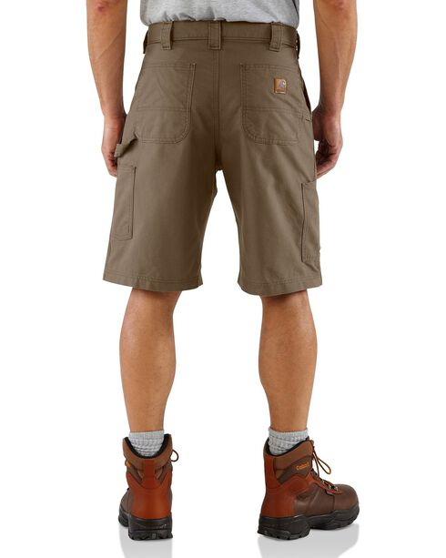 Carhartt Men's Canvas Carpenter Work Shorts, Brown, hi-res