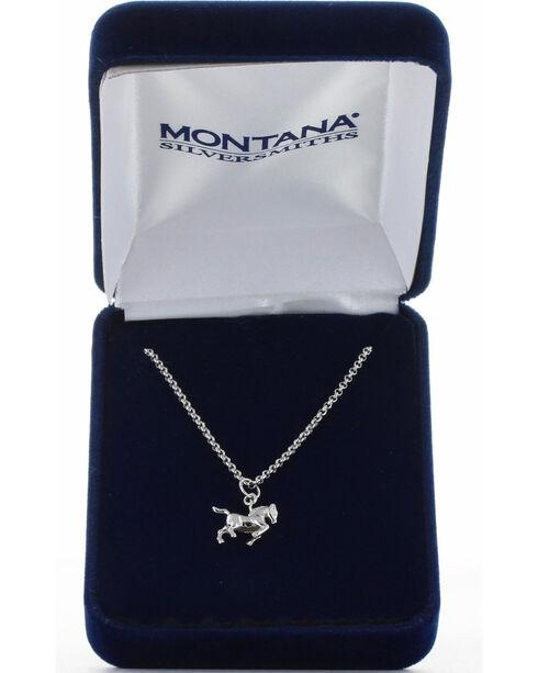 Montana Silversmiths Women's Silver Prancing Horse Necklace , Silver, hi-res