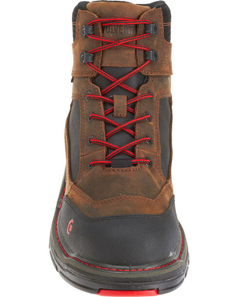 "Wolverine Men's Brown Overman Waterproof Carbonmax 6"" Work Boots - Round Toe, Black/brown, hi-res"