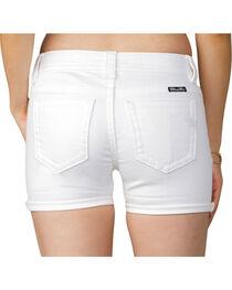 Miss Me Women's White Mid-Rise Shorts, , hi-res