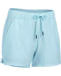 Under Armour Women's Light Blue Hiking Shorts, , hi-res