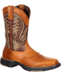 Durango Men's Ultra Lite Saddle Western Boots, Brown, hi-res