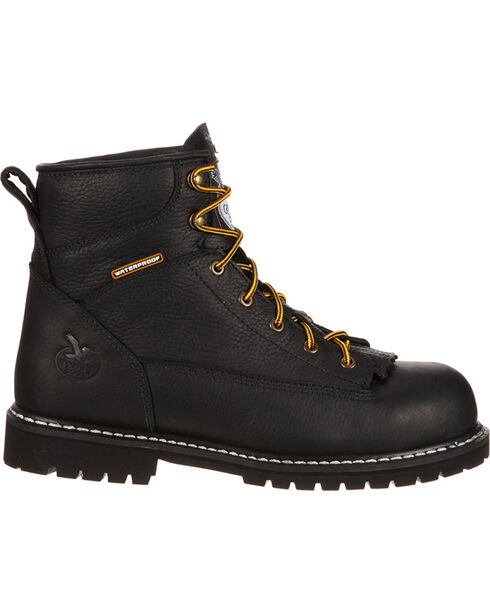 Rocky Men's IronClad Steel Toe Work Boots, Black, hi-res
