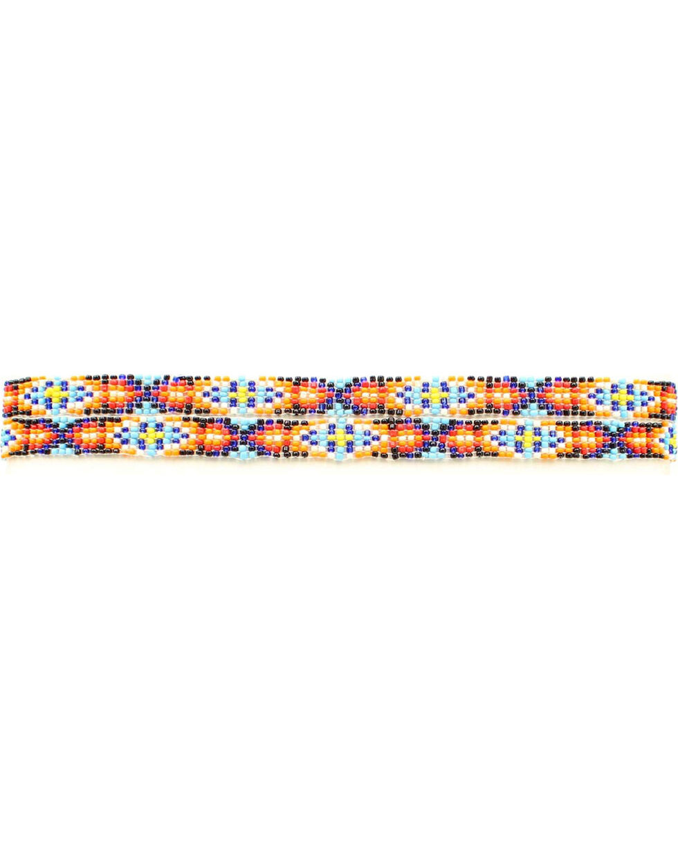 "M&F 3/8"" Beaded Elastic Hat Band, Multi, hi-res"