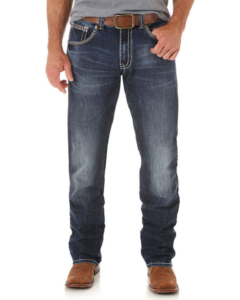 Rock 47 by Wrangler Men's Slim Straight Leg Jeans, Indigo, hi-res