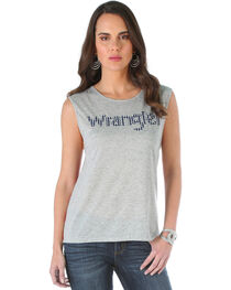 Wrangler Women's Striped Back Top with Wrangler Logo, , hi-res