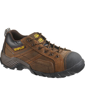Caterpillar Women's Argon Work Shoes - Composite Toe, Dark Brown, hi-res
