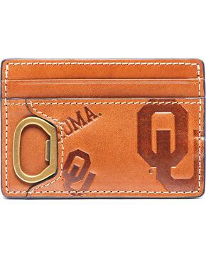 Jack Mason Men's Oklahoma Sideline ID Card Case , Brown, hi-res