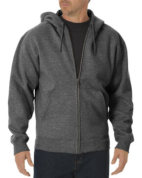 Dickies Midweight Fleece Zip-Up Hooded Work Jacket, Dark Grey, hi-res