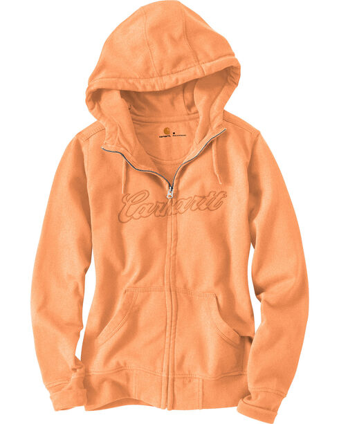 Carhartt Women's Clarksburg Hoodie Jacket, Peach, hi-res