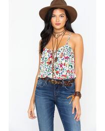 Ces Femme Women's Crochet Floral Tank , , hi-res