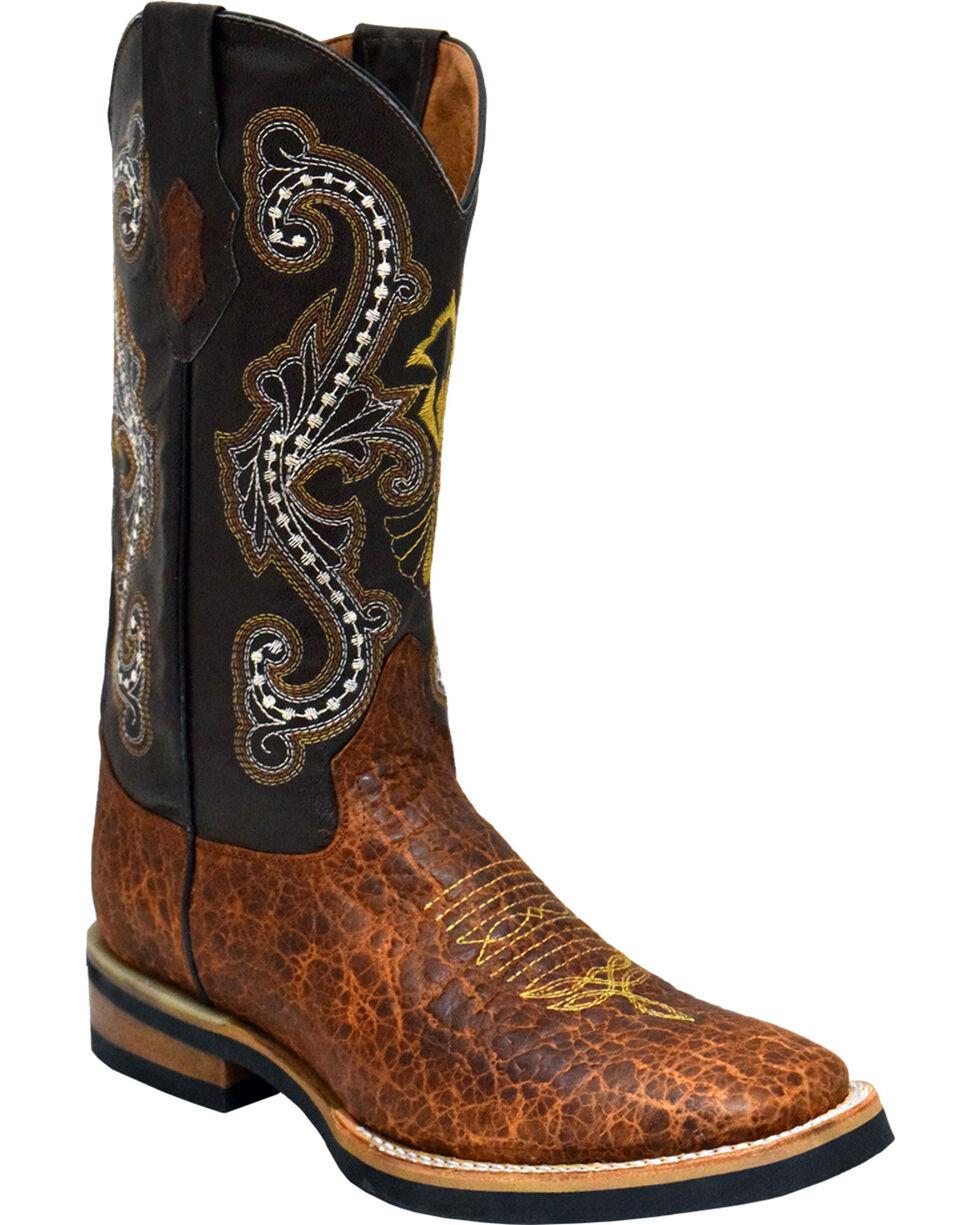 Ferrini Men's Acero Western Boots - Square Toe , Brown, hi-res
