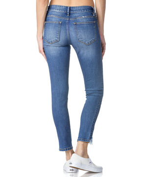 Miss Me Women's Step Up Hem Ankle Jeans - Skinny , Indigo, hi-res