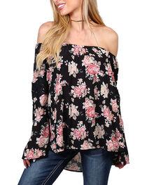 Shyanne® Women's Floral Off The Shoulder Long Sleeve Top, , hi-res