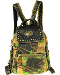 Montana West Camo Stone Washed Canvas Mini Backpack, , hi-res