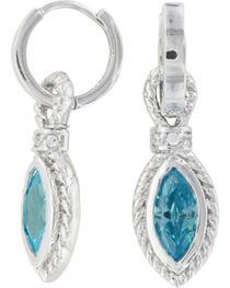 Montana Silversmiths Lassoed Blue Starlight Earrings, , hi-res