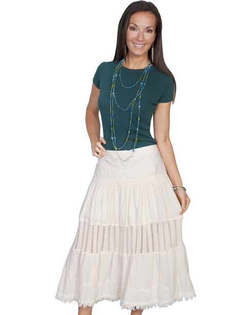 Scully Women's Crochet Skirt, Natural, hi-res