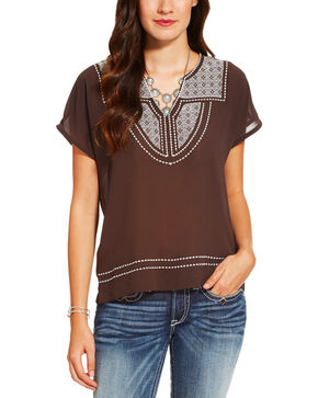 Ariat Women's Brown Rio Top, Brown, hi-res