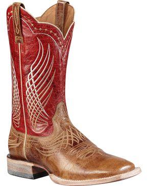 Ariat Men's Mecte Western Boots, Tan, hi-res