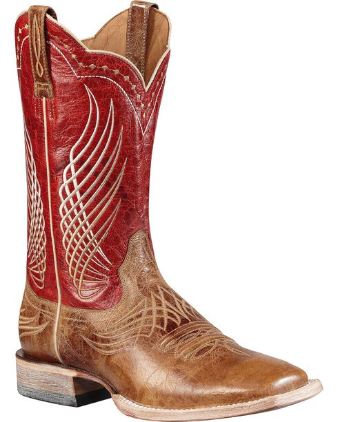 Ariat Men's Mecte Western Boots, Tan, hi-res