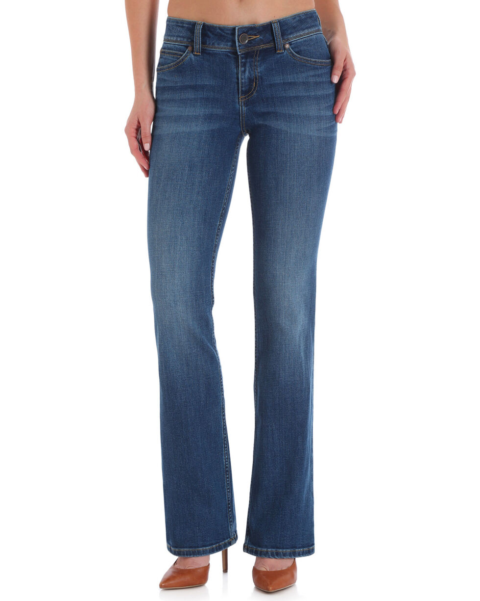 Wrangler Women's Light Wash Retro Mae Jeans, Indigo, hi-res