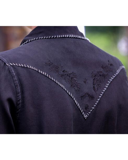 Ryan Michael Women's Black Whip Stitch 152 Shirt , Black, hi-res