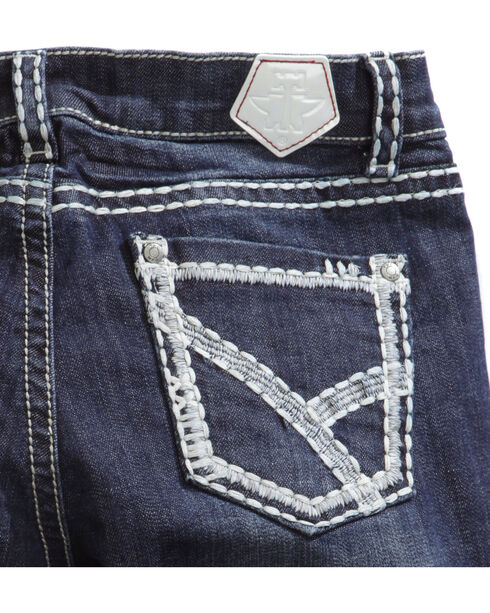 Tin Haul Women's Mimi X-Boyfriend Straight Leg Thick Stitch Jeans, Denim, hi-res