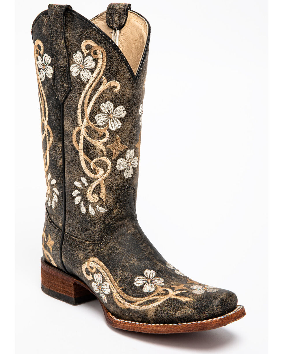 Corral Women's Honey Cowhide Western Boots, Honey, hi-res
