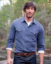 Ryan Michael Men's Textured Stripe Shirt , , hi-res